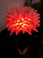 Светильник ночник розовая хризантема Ростовые цветы из изолона, фото 1