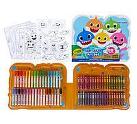 Набор Крайола для творчества 90 предметов Crayola Baby Shark Art Set