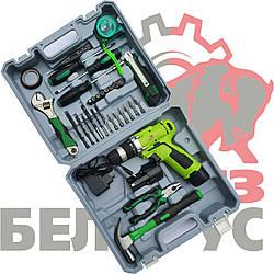 Аккумуляторный шуруповерт Белорус МТЗ ДА-12/2Л Li-on с набором ручных инструментов