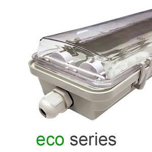 Корпус светильника под 2 LED лампы Т8 600 мм пыле- влагозащищенный IP65 серия ECO