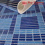 "Коврик на метраж ширина 80 см ""Клетка Синяя"" для Ванной Туалета Кухни Коридора Дорожка, фото 2"