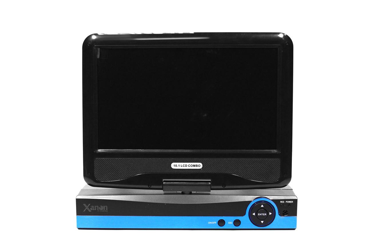 Система видеонаблюдения с экраном на 4 камеры беспроводной комплект Xanon JX-M1004IP WiFi