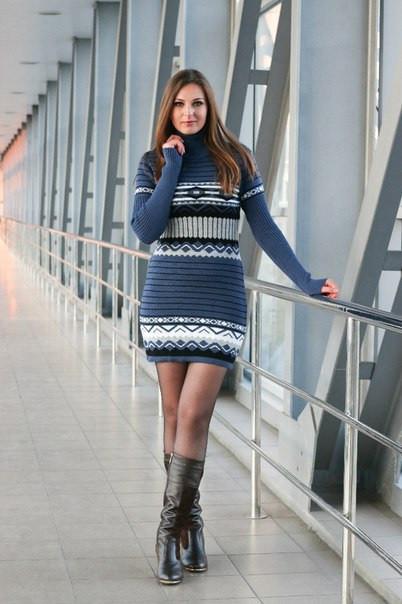 Платье вязаное - Пчела