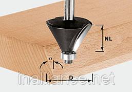 Фреза для снятия фаски HW S8 D25,7/25,7/15° с опорным подшипником хвостовик 8 мм Festool 491132