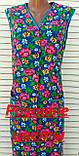 Летний халат без рукава 58 размер Розовые цветы, фото 7