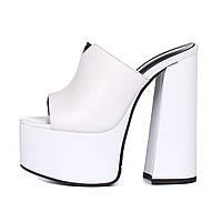 Новинка 2020 года, летние водонепроницаемые туфли на толстом каблуке и туфли на высоком каблуке с белым рыбьим ртом, сандалии и тапочки, женская обувь