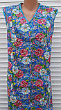 Летний халат без рукава 60 размер Цветы, фото 8