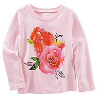 Детская футболка (топ) с длинным рукавом Oshkosh для девочки