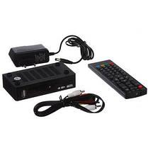 Цифровой ТВ тюнер MEGOGO DVB металлический корпус T2 ресивер с IPTV, USB, фото 3