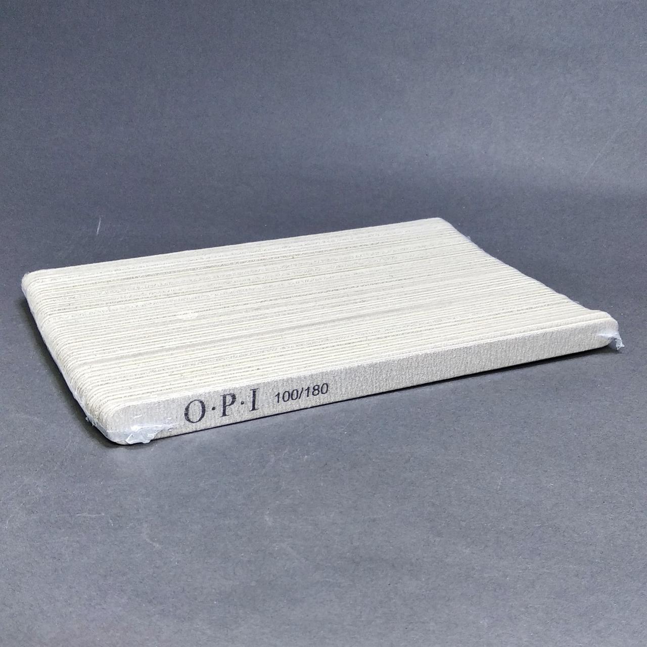 Пилочки для ногтей овальные OPI 100/180 грит, (50 шт)