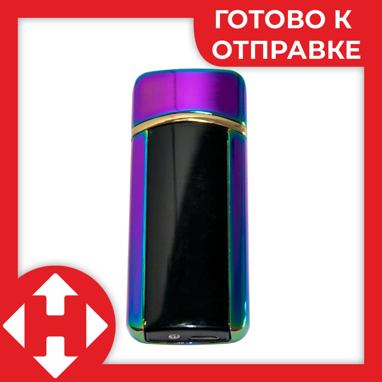 Электронная сенсорная зажигалка Classic Fashionable BMW (5403 H1) Фиолетовая, от USB аккумуляторная