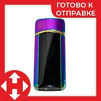 Электронная сенсорная зажигалка Classic Fashionable BMW (5403 H1) Фиолетовая, от USB аккумуляторная, фото 1