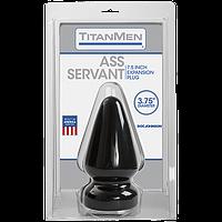 Пробка для фістінга Doc Johnson Titanmen Tools - Butt Plug 3.75 Inch Ass Servant, діаметр 9,4 см