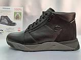 Стильные зимние кожаные ботинки под кроссовки Bertoni, фото 4
