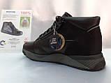 Стильные зимние кожаные ботинки под кроссовки Bertoni, фото 7