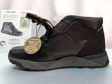 Стильные зимние кожаные ботинки под кроссовки Bertoni, фото 8