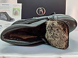 Стильные зимние кожаные ботинки под кроссовки Bertoni, фото 6