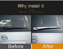 Хром накладки на стеклоотчиститель Nissan Patrol Y62 (дворники)
