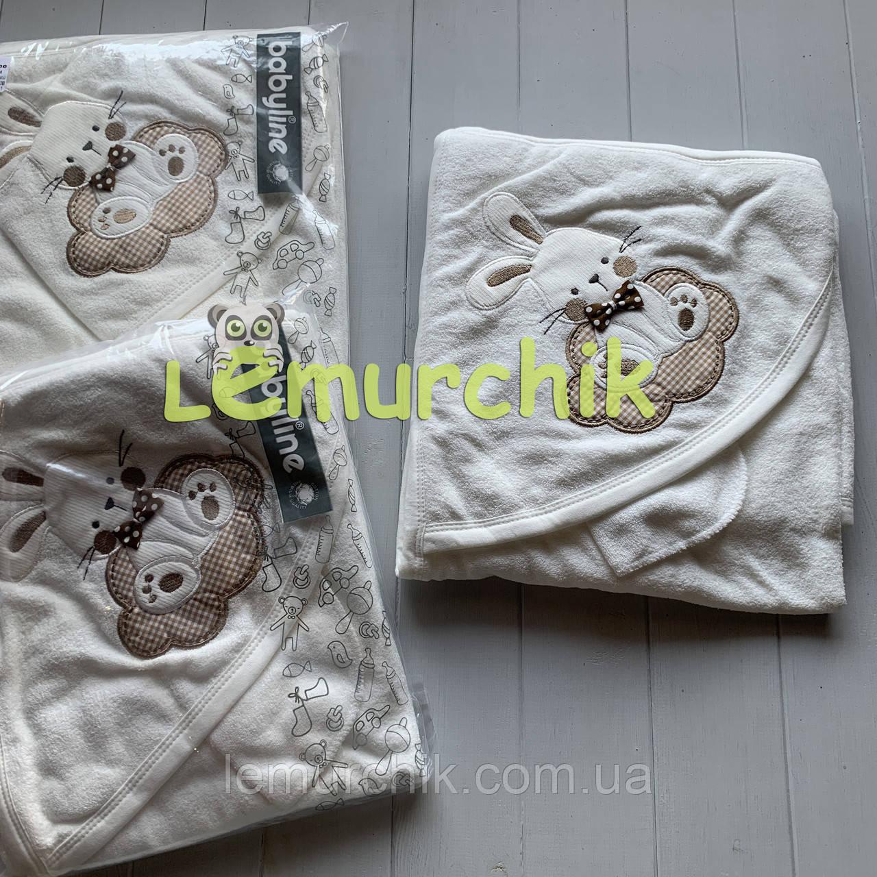 Полотенце-уголок с капюшоном Зайка