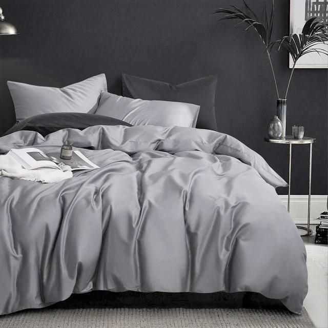Постельное белье сатин Iron grey ТМ Moonlight Евро