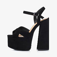 Youmaidi 2020 летние новые непромокаемые сандалии на толстом каблуке на платформе, кожаная женская обувь на высоком каблуке, большой размер 41, фото 1