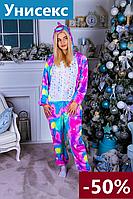 Кигуруми единорог розовый для взрослых и детей пижама, мальчиков и девочек, пижамы кигуруми для девушек