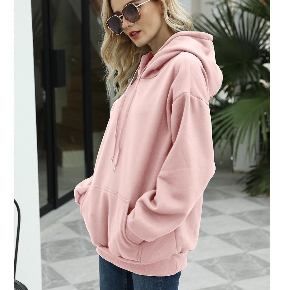 Толстовка женская утепленная оверсайз с капюшоном. Байка на флисе, худи, свитшот (розовая) XL