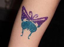 Набор для временного глиттер-тату блестящие татуировки Shimmer Glitter Tattoos наклейки, временные тату, фото 2