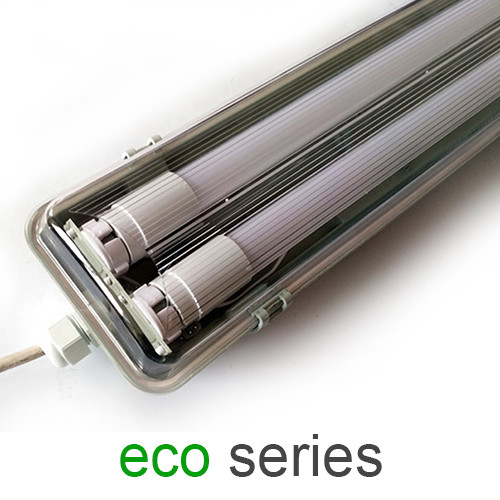 Комплект світильник + 2 LED лампи Т8 1200 мм пило - вологозахищений IP65 серія ECO
