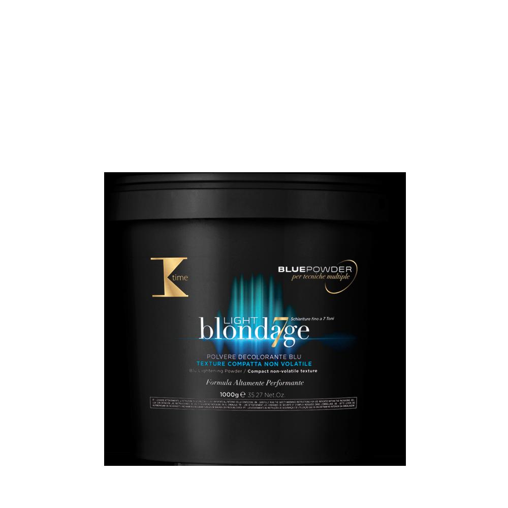 Осветляющий порошок для волос мульти блонд  K-Time Light blondage blue powder 1000g