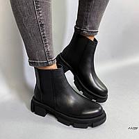 Женские ботинки Челси кожаные, фото 1