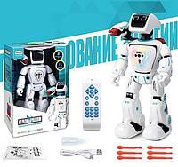 Робот, модель 22005, светится, ходит, говорит, цвет белый, в коробке с пультом управления
