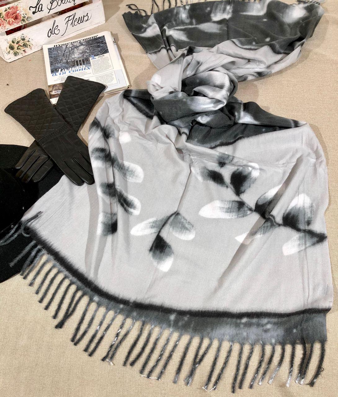 """Кашемировый теплый шарф палантин """"Лана"""" Cashmere 107015"""