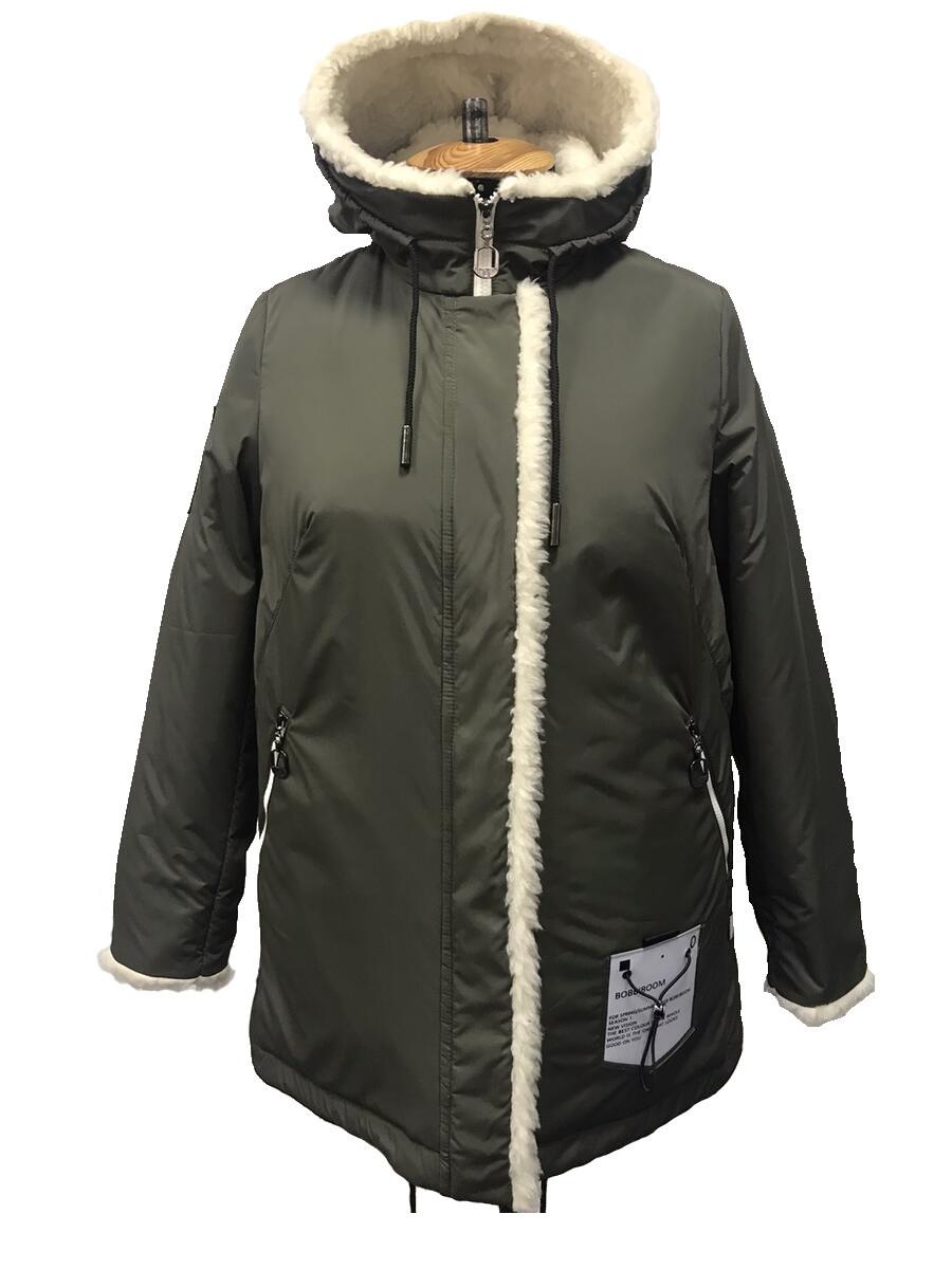 Парка зимняя женская. (48-58р). Курточка. Большие размеры. Хаки