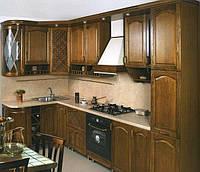 Производство кухни из натурального дерева c фурнитурой BLUM под заказ