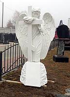 Мемориальная скульптура. Статуя Ангел на могилу 175 см из литьевого мрамора