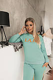 Женский Спортивный Костюм с накатом Батал, фото 3