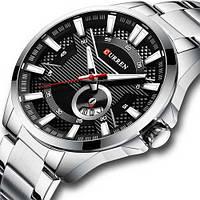 Часы наручные Curren 8372 Silver-Black ОРИГИНАЛ