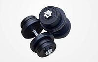 Гантель RN 2 шт по 11 кг з металевим грифом ABS покриття