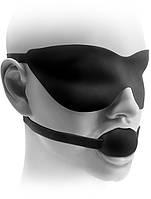 Кляп ST FF Elite Ball Gag & Mask Black