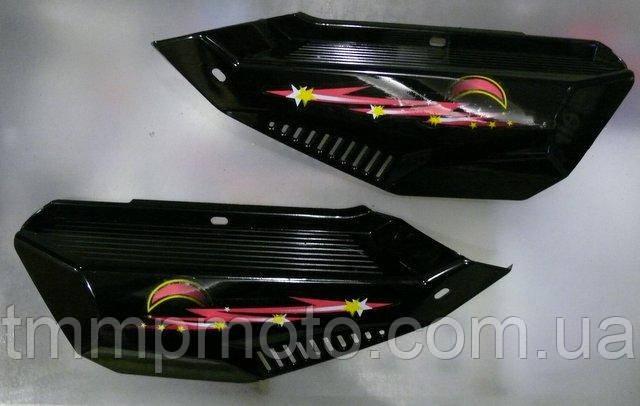 Пластик боковой / боковая крышка Дельта (пара) черная