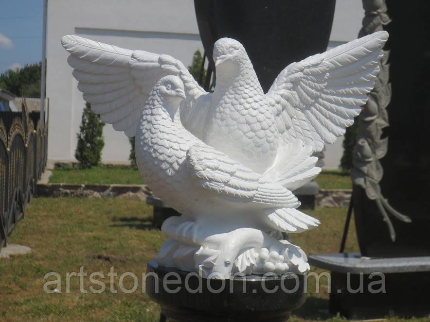 Скульптуры голубей. Скульптура из полимера Голуби 30*41 см