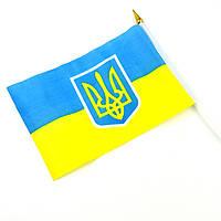 Флаг Украины маленький на палочке с присоской