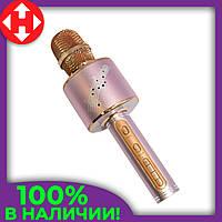 Беспроводной микрофон караоке с динамиком YS-66 розовый, музыкальный usb микрофон для детей, фото 1