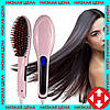 Распродажа! Электрическая расческа выпрямитель, Fast Hair Straightener HQT-906 Розовая, для выравнивания волос