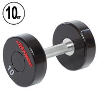Гантель цельная профессиональная Life Fitness (1шт) SC-80081-10 10кг (полиуретановое покрытие, вес 10кг), фото 1