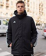 Мужская куртка Adidas демисезонная осень / весенняя куртка черная Турция. Живое фото. Чоловіча куртка