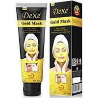 Золотая омолаживающая маска для лица DEXE 24k GOLD MASK, маска от морщин