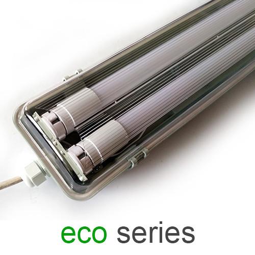 Комплект світильник + 2 LED лампи Т8 600 мм пило - вологозахищений IP65 серія ECO