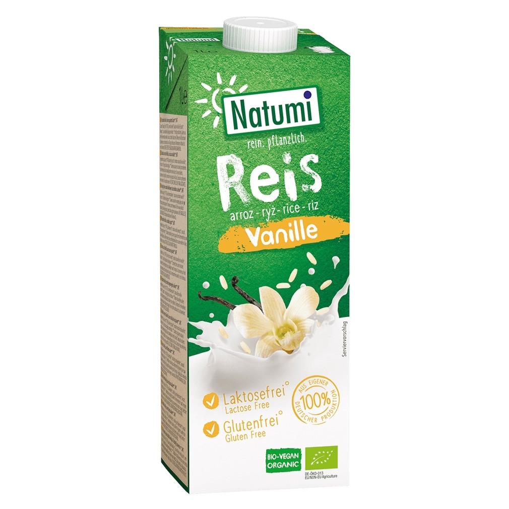 Рисово-ванільний органічний напій Natumi без цукру , 1л